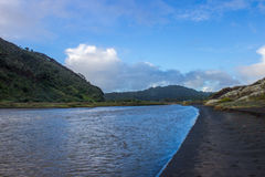 Bethells beach. Near to Auckland city, at west coast, also estuary of the Waitekere river Royalty Free Stock Photo