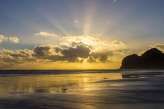 Bethells beach. Near to Auckland city, at west coast, also estuary of the Waitekere river Royalty Free Stock Images