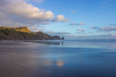 Bethells beach. Near to Auckland city, at west coast, also estuary of the Waitekere river Royalty Free Stock Photography