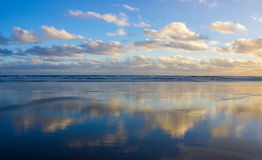 Bethells beach. Near to Auckland city, at west coast, also estuary of the Waitekere river Stock Photography