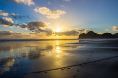 Bethells beach. Near to Auckland city, at west coast, also estuary of the Waitekere river Stock Image