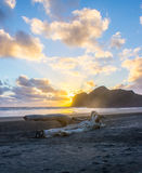 Bethells beach. Near to Auckland city, at west coast, also estuary of the Waitekere river Stock Images