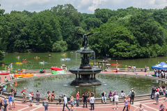 Bethesda Fontanna Miasto Nowy Jork Zdjęcie Royalty Free