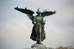 Bethesda Fountain. Angel of the Waters Fountain (Bethesda Angel) in Central Park, NYC Stock Photos