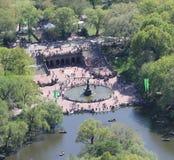 Bethesda Fountain et terrasse Photos stock