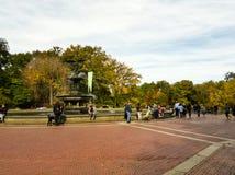 Bethesda Fountain in het Central Park in NYC royalty-vrije stock foto