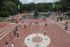 Bethesda Fountain New York City Stock Images