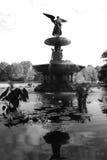 Bethesda Fountain, NY. B&W shot of Bethesda Fountain in Central Park, NY Stock Photo