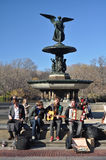 Bethesda Fountain performance Stock Photo