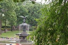 bethesda stadsspringbrunn New York Royaltyfria Bilder