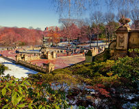 Bethesda Terrace. The stairs that lead to the famous fountain in Central Park Royalty Free Stock Photography