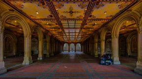 Bethesda Terrace Central Park fotografia de stock royalty free