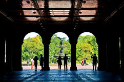 Bethesda Terrace in the Central Park, New York Royalty Free Stock Image