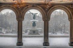Bethesda Terrace Central Park stock photo