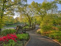 Bethesda Terrace and Fountain. Overlook The Lake in New York City`s Central Park Royalty Free Stock Images