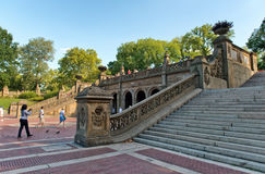 Bethesda Terrace Grand Staircase i Central Park Arkivbild