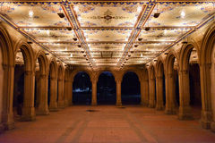 Bethesda Terrace at Night, Central Park Stock Photography