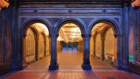Bethesda Terrace Underpass. The pedestrian underpass at Bethesda Terrace, Central Park, New York City Royalty Free Stock Photography