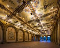 Bethesda Underpass. New York City at  Bethesda Terrace underpass in Central Park Stock Image