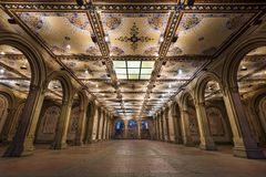 Bethesda Underpass. New York City at  Bethesda Terrace underpass in Central Park Stock Images