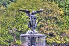 Bethesday springbrunn arkivbild