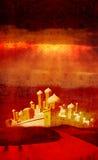 Bethlehem à travers le désert au loin Photographie stock