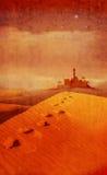 Bethlehem à travers le vert de désert Image libre de droits