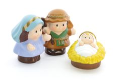 Bethlehem. Christmas scene composed of child figures on a white background stock image
