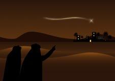 Bethlehem achtergrond Royalty-vrije Stock Foto