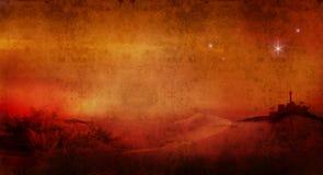Bethlehem across desert 2 Stock Image