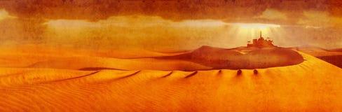 Bethlehem across desert wide Royalty Free Stock Images