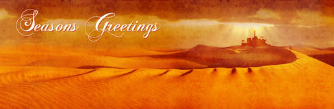 Bethlehem across desert wide text Royalty Free Stock Photo