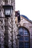 Bethlehem Alley architectures and buildings. Outside next to the churches Royalty Free Stock Photos