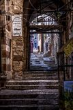 Bethlehem Alley architectures and buildings. Outside next to the churches Royalty Free Stock Photography