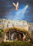 Bethlehem angel. Christmas bethlehem little jesus with parents Stock Image