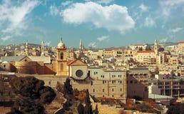 Bethlehem: Ansicht des historischen Teils lizenzfreies stockbild