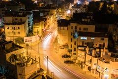 Bethlehem aux endroits historiques antiques de nuit de l'Israël Images stock