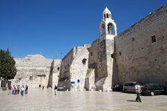 Bethlehem. The church of the Nativity in Bethlehem, Israel. The site is traditionally considered to be located over the cave that marks the birthplace of Jesus Stock Photo