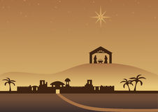 Bethlehem de achtergrond van Kerstmis Royalty-vrije Stock Fotografie