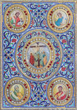 Bethlehem - The detail of the binding of liturgical book from 19. cent. in Syrian orthodox church. Royalty Free Stock Images