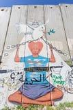 Bethlehem - Detail of graffiti on the Separation barrier. Stock Photo