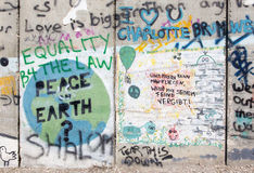 Bethlehem - Detail of graffitti on the Separation barrier. Stock Image
