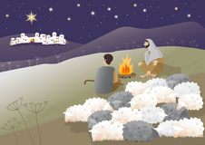 bethlehem födelse jesus royaltyfri illustrationer