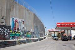 Bethlehem - graffitti on the Separation barrier. Stock Image