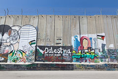 Bethlehem - The graffitti on the Separation barrier Royalty Free Stock Photos