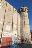 Bethlehem - The graffitti on the Separation barrier. Royalty Free Stock Photography