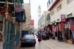 Bethlehem, Israel. - February 15.2017. Narrow street in the Arab quarter in Bethlehem. Stock Images