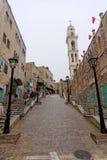 Bethlehem, Israel. - February 15.2017. Narrow street in the Arab quarter in Bethlehem. Royalty Free Stock Images
