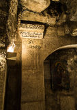 BETHLEHEM, Israel, July 12, 2015: The city of Bethlehem.  Grotto Royalty Free Stock Images