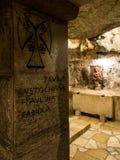 BETHLEHEM, Israel, July 12, 2015: The city of Bethlehem. Grotto Royalty Free Stock Photos